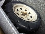 Blown Tyre on trip south