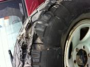 Blown Tyre on trip north